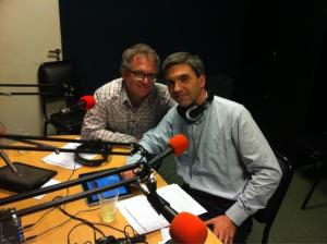 Rodrigo y Claudio en el estudio